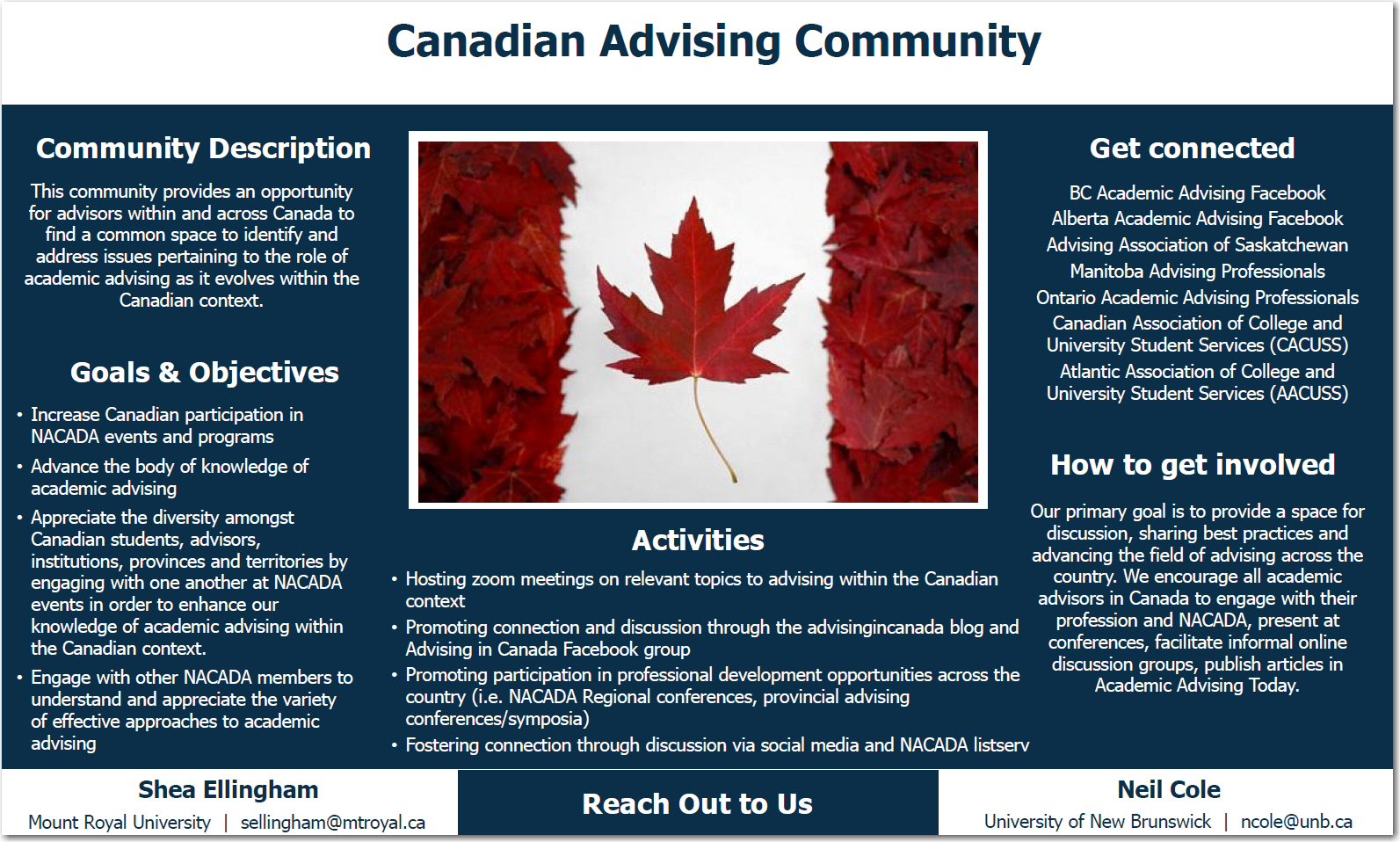 Canadian AC's poster at the ACD Fair in Phoenix, 2018
