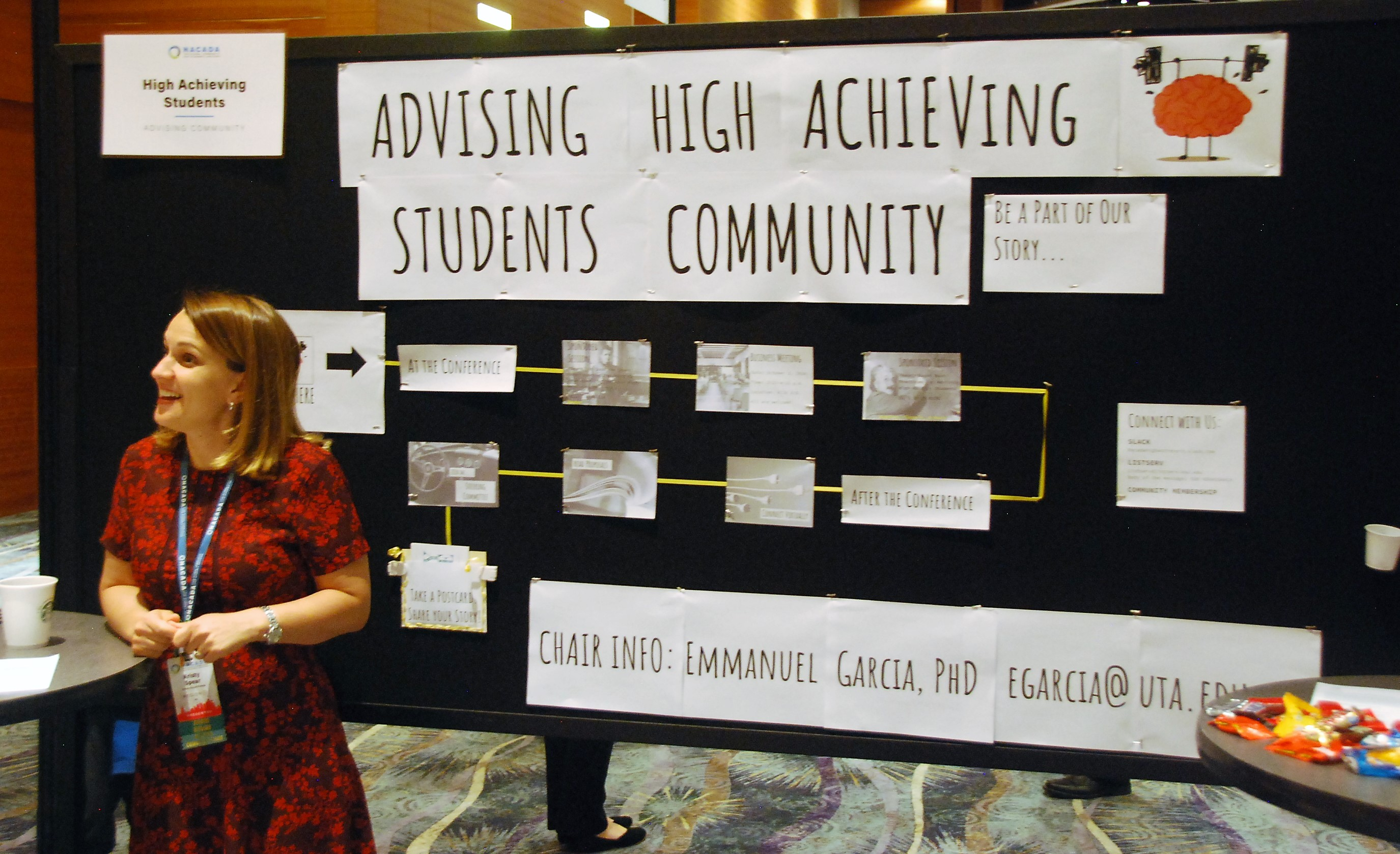 High Achieving Students AC Poster at ACD Fair, Phoenix, 2018